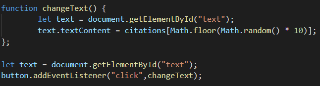 function changetext()